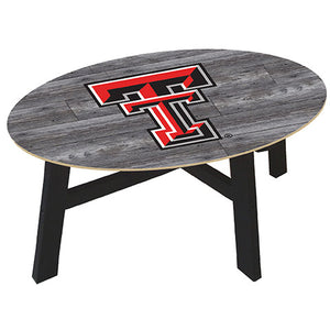 Texas Tech University Distressed Wood Coffee Table