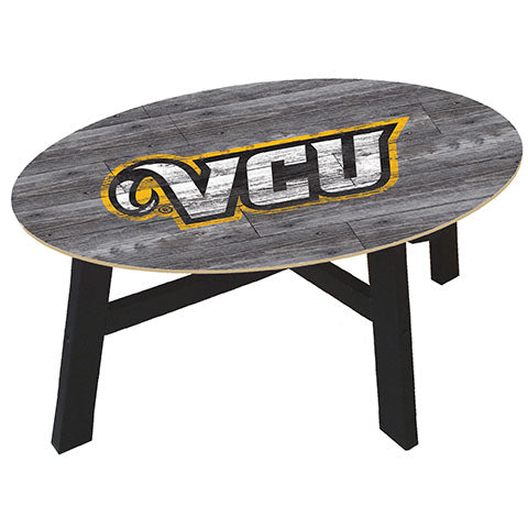 VCU Distressed Wood Coffee Table