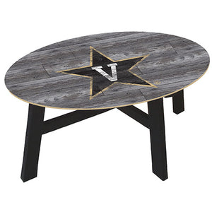 Vanderbilt University Distressed Wood Coffee Table