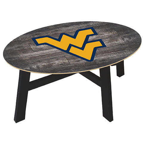 University of West Virginia Distressed Wood Coffee Table