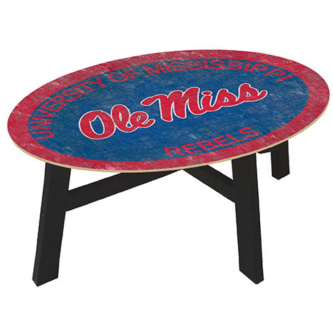 Ole Miss Coffee table with team color