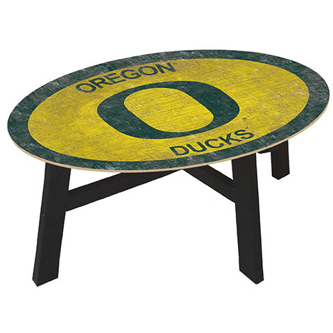 University of Oregon Coffee table with team color
