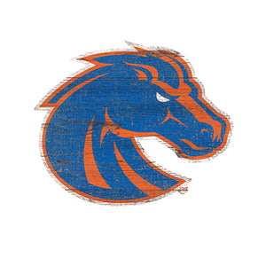 Boise State  Distressed Logo Cutout Sign
