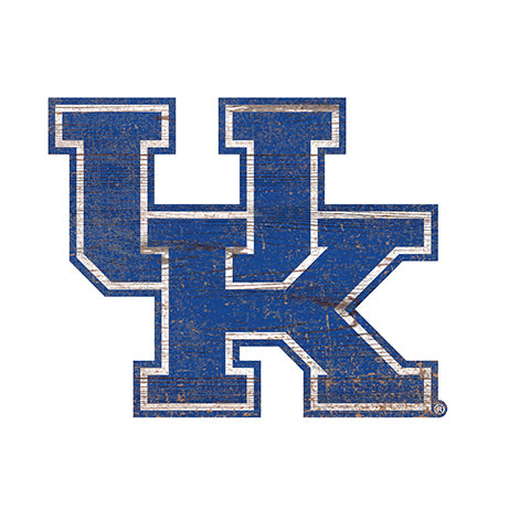 University of Kentucky Distressed Logo Cutout Sign