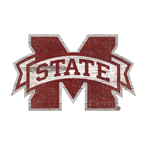 Mississippi State University Distressed Logo Cutout Sign