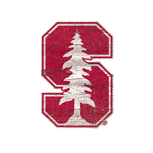 Stanford  Distressed Logo Cutout Sign