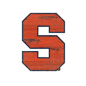 Syracuse  Distressed Logo Cutout Sign