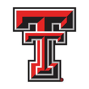 Texas Tech University Distressed Logo Cutout Sign