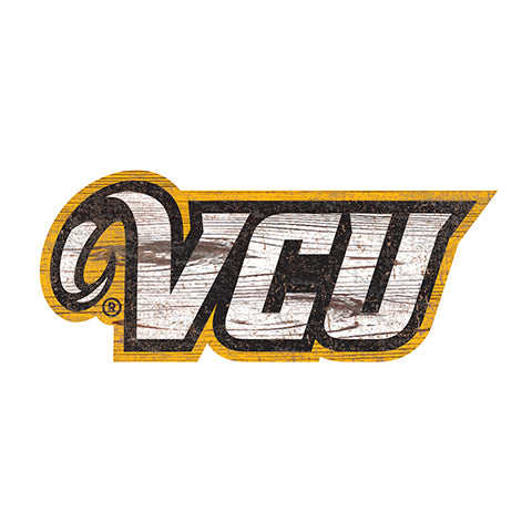 VCU  Distressed Logo Cutout Sign