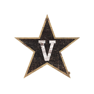 Vanderbilt University Distressed Logo Cutout Sign