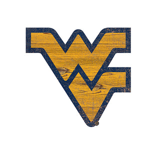 University of West Virginia Distressed Logo Cutout Sign