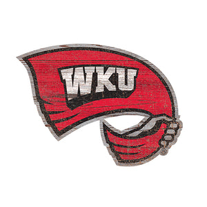 Western Kentucky  Distressed Logo Cutout Sign
