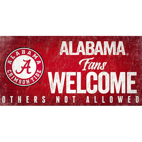 University of Alabama Fans Welcome Sign