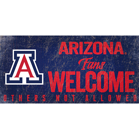 Arizona Fans Welcome Sign