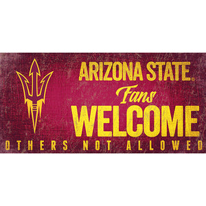 Arizona State Fans Welcome Sign