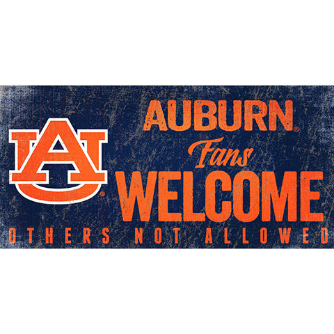 Auburn University Fans Welcome Sign