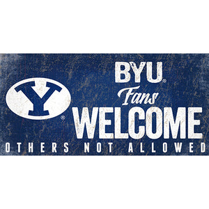 BYU Fans Welcome Sign
