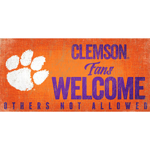 Clemson University Fans Welcome Sign