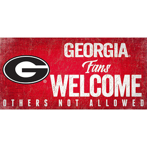 University of Georgia Fans Welcome Sign