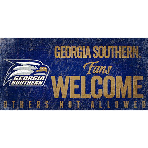 Georgia Southern Fans Welcome Sign