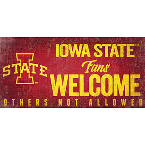 Iowa State Fans Welcome Sign