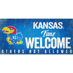 Kansas Fans Welcome Sign