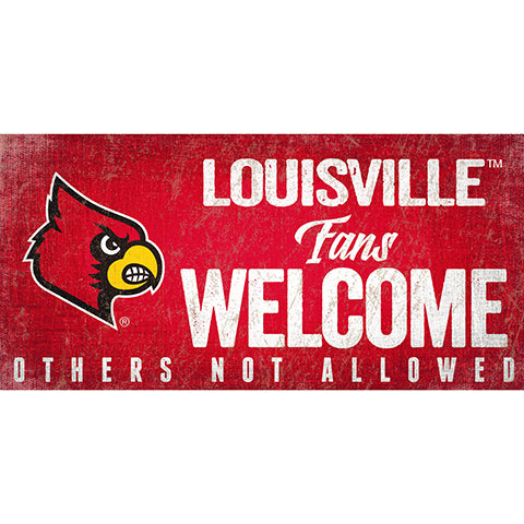 Louisville Fans Welcome Sign