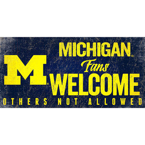 University of Michigan Fans Welcome Sign