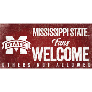 Mississippi State University Fans Welcome Sign