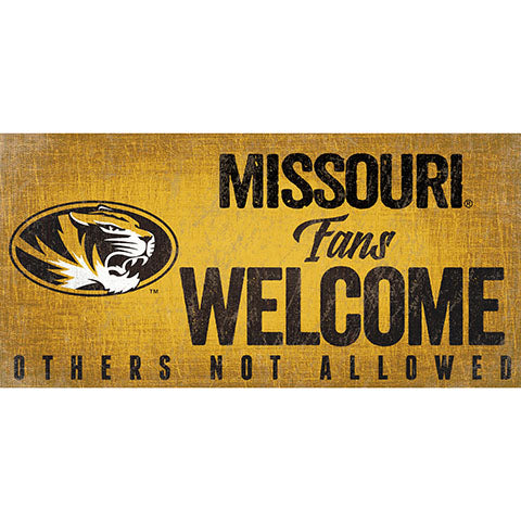 University of Missouri Fans Welcome Sign