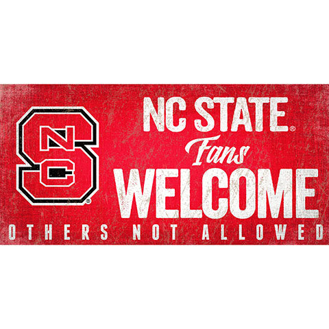 NC State University Fans Welcome Sign