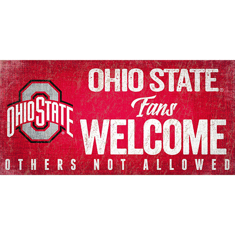 Ohio State University Fans Welcome Sign