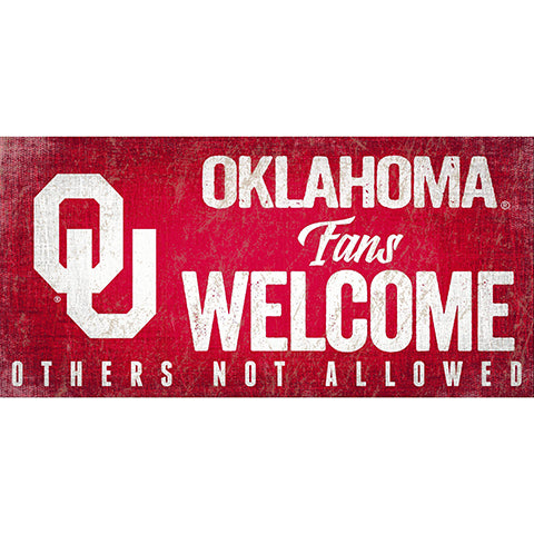 University of Oklahoma Fans Welcome Sign