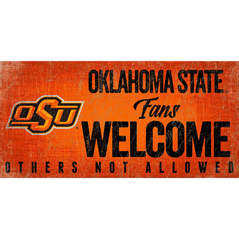 Oklahoma State Fans Welcome Sign