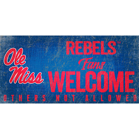 Ole Miss Fans Welcome Sign