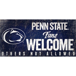 Penn State University Fans Welcome Sign