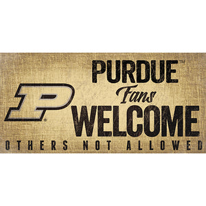Purdue Fans Welcome Sign
