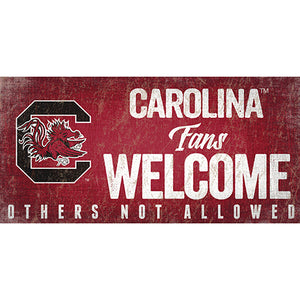 University of South Carolina Fans Welcome Sign