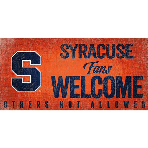 Syracuse Fans Welcome Sign