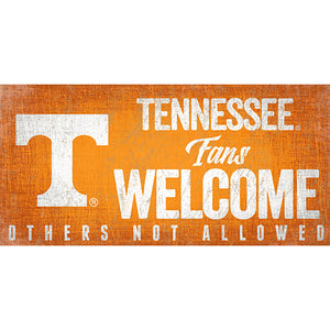 University of Tennessee Fans Welcome Sign