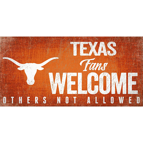 University of Texas Fans Welcome Sign