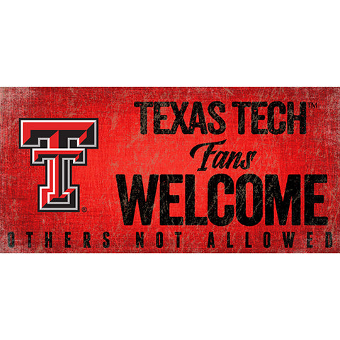 Texas Tech University Fans Welcome Sign