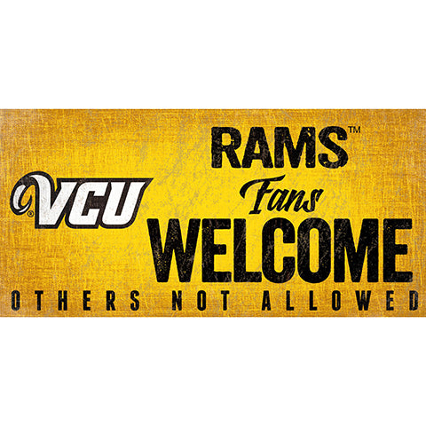 VCU Fans Welcome Sign