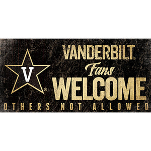 Vanderbilt University Fans Welcome Sign