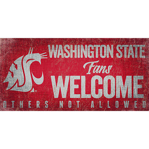Washington State Fans Welcome Sign