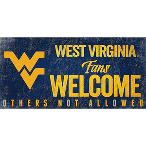 University of West Virginia Fans Welcome Sign