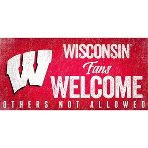 University of Wisconsin Fans Welcome Sign