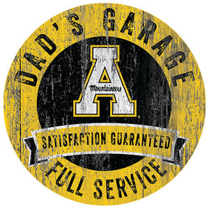 Appalachian State Dad's Garage Sign