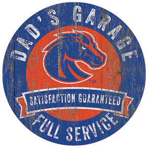Boise State Dad's Garage Sign