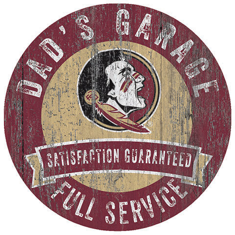 Florida State Dad's Garage Sign